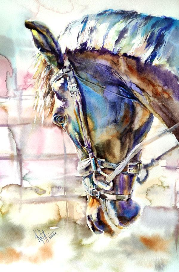 Картина акварелью авторская живопись