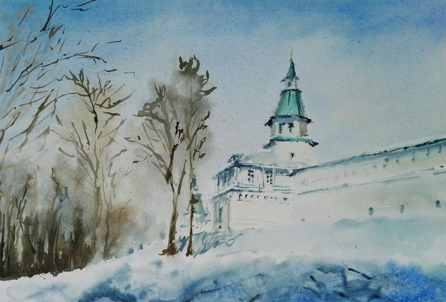 история России в картине Ново-Иерусалимский монастырь