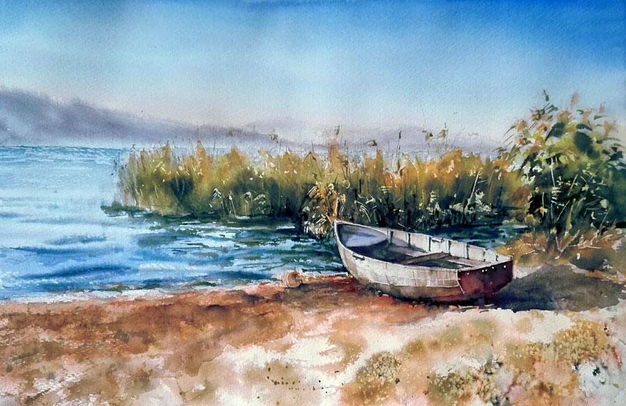 пейзаж акварелью современная живопись