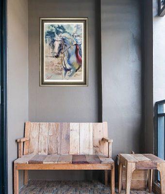 картина портрет лошади